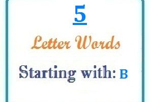Five letter words starting with B for domain names and scrabble