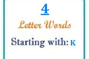 Four letter words starting with K for domain names and scrabble