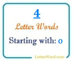 Four letter words starting with O for domain names and scrabble