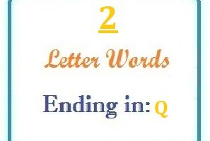 Two letter words ending in Q for domain names and scrabble with Meaning