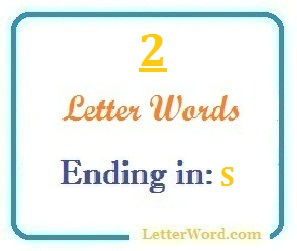 Two letter words ending in S for domain names and scrabble with Meaning