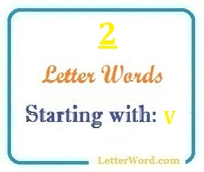 Two letter words starting with V for domain names and scrabble