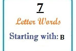 Seven letter words starting with B for domain names and scrabble