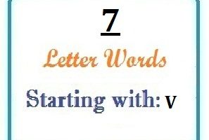 Seven letter words starting with V for domain names and scrabble