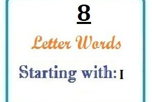 Eight letter words starting with I for domain names and scrabble