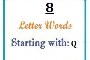 Eight letter words starting with Q for domain names and scrabble