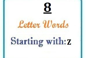Eight letter words starting with Z for domain names and scrabble