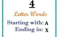Four letter words starting with A and ending in X