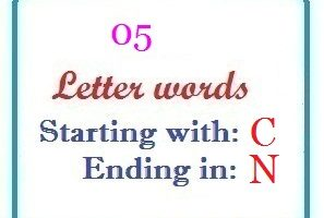 Five letter words starting with C and ending in N