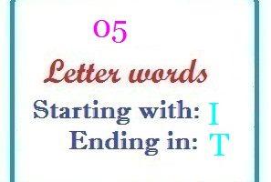 5 letter words ending in t | Letters in Word   LetterWord.com