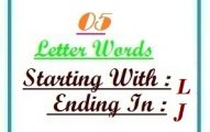Five letter words starting with L and ending in J