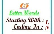 Five letter words starting with L and ending in N