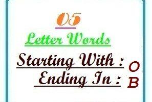 5 letter words ending in b | Letters in Word   LetterWord.com