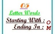 Five letter words starting with O and ending in M
