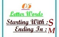Five letter words starting with S and ending in M