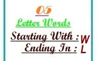 Five letter words starting with W and ending in L