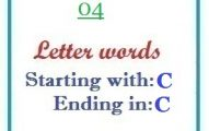 Four letter words starting with C and ending in C