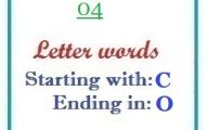 Four letter words starting with C and ending in O