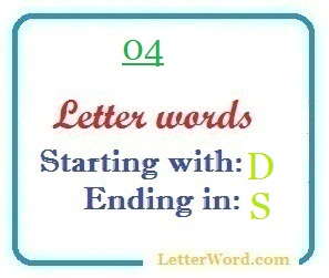 four letter words starting with d and ending in s