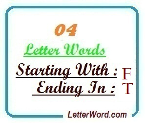 four letter words starting with f and ending in t