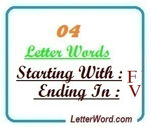 Four letter words starting with F and ending in V