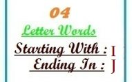 Four letter words starting with I and ending in J