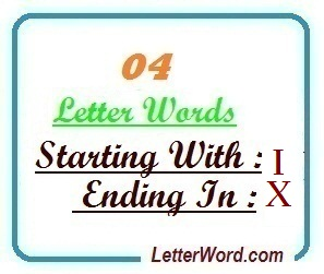 Four Letter Words Starting With I And Ending In X