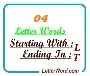 four letter words starting with l and ending in t