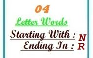 Four letter words starting with N and ending in R