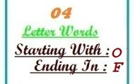 Four letter words starting with O and ending in F