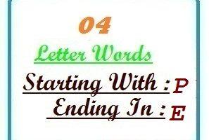 4 letter words ending in E | Letters in Word   LetterWord.com