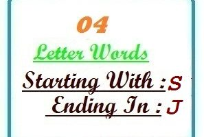 Four letter words starting with S and ending in J