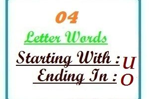 Four letter words starting with U and ending in O