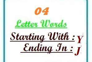 4 letter word ending in j | Letters in Word   LetterWord.com