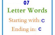Seven letter words starting with C and ending in C