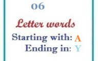 Six letter words starting with A and ending in Y