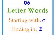 Six letter words starting with C and ending in Z