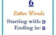 Six letter words starting with D and ending in B