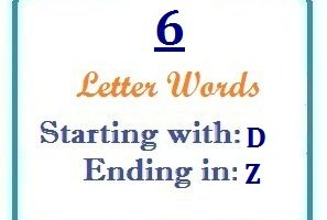 words starting with D and ending in Z | Letters in Word