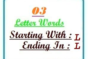 Three letter words starting with L and ending in L