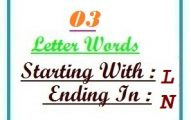 Three letter words starting with L and ending in N