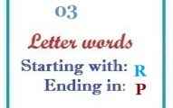 Three letter words starting with R and ending in P