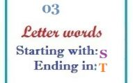 Three letter words starting with S and ending in T