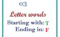 Three letter words starting with T and ending in F