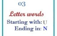 Three letter words starting with U and ending in N