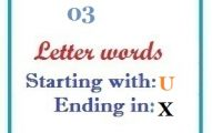 Three letter words starting with U and ending in X