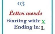 Three letter words starting with X and ending in L