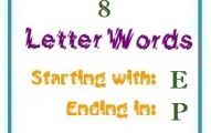 Eight letter words starting with E and ending in P
