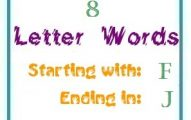 Eight letter words starting with F and ending in J