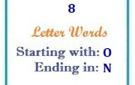 Eight letter words starting with O and ending in N